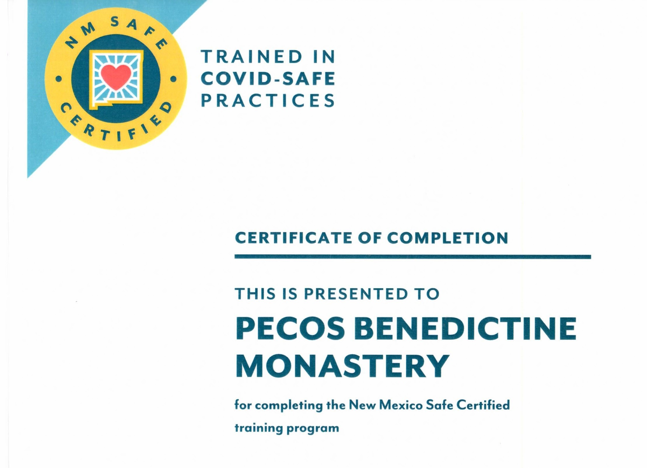 COVID Safe Certification